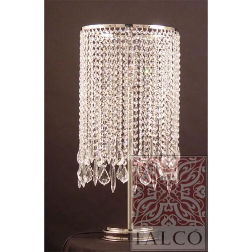 Lampara de mesa con cristal for Lamparas estilo contemporaneo
