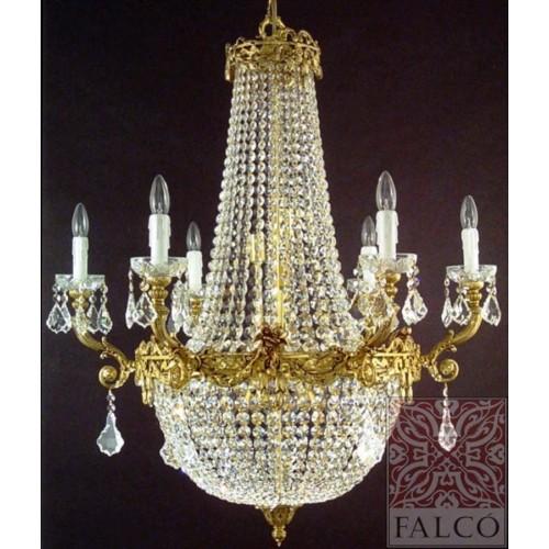 Lampara de bronce con cristal lampara de cristal - Lamparas con botes de cristal ...